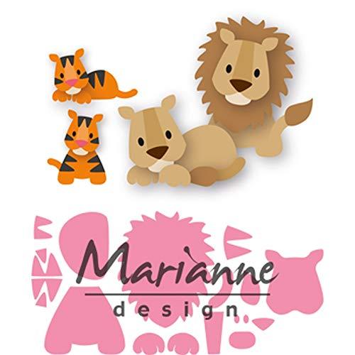 Marianne Design Collectables Fustelle Eline's Gattino, per Taglio e Goffratura di Disegni Complessi per Progetti Creativi, Metal, Rosa, Medium