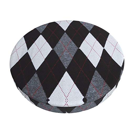 PRADO Diamond Check Round Bar Chair Cushion Cover, Detachable Washable Dust-Proof and Warm Furniture Seat Cover for Dining Room Kitchen Office