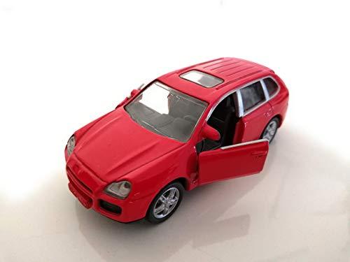 Siku 1328 rot Porsche Cayenne mit Fahrradträger