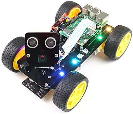 Freenove 4WD Smart Car Kit for Raspberry Pi 4 B 3 B B A Face Tracking Line Tracking Light Tracing product image