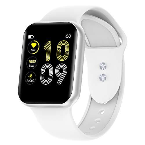 KUNGIX Smartwatch, Reloj Inteligente Impermeable IP68 para Hombre Mujer niños, Pulsera de Actividad Inteligente con Monitor de Presión Arterial Sueño Contador de Caloría Pulsómetros, para Android iOS