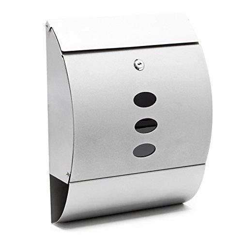 Buzón de diseño V18 buzón de pared plateado compartimento para periódicos