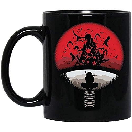 Generic Itachi Uchiha Red Moon Naruto Mug 11 Oz Black S8XTK6