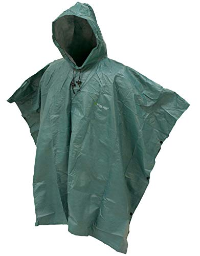 FROGG TOGGS Men's Standard Ultra-Lite2 Waterproof Breathable Poncho, Dark Green, One Size