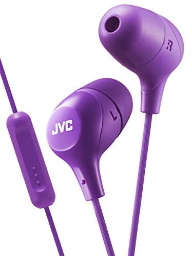 JVC HA-FX38M in-Ear Headphones with 1-Button Remote Control and Microphone - Violet (Violet)