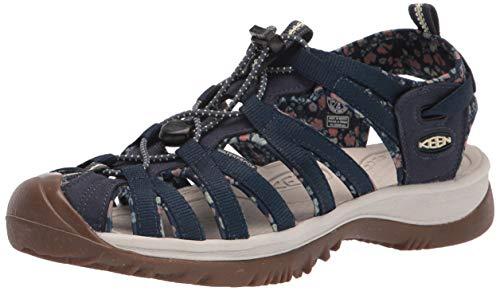 KEEN Women's Whisper Sport Sandal, Navy/Birch, 5.5