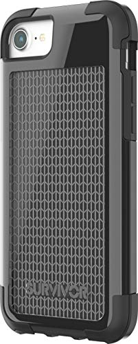 Griffin Survivor Fit Funda Negro - Fundas para teléfonos móviles (Funda, Apple, iPhone 7/6s/6, Negro)