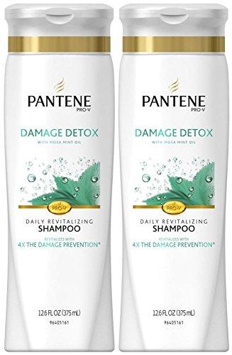 Pantene Pro-V Damage Detox Daily Revitalizing Shampoo, 12.6 oz, 2 Pack