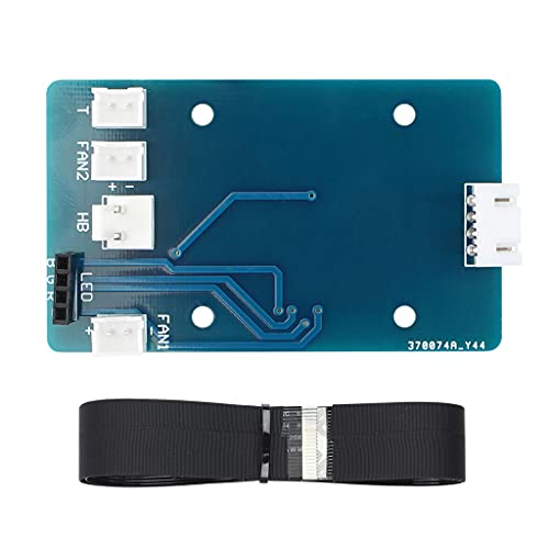 S-TROUBLE Piezas de Impresora 3D Placa adaptadora de PCB de Extremo Caliente + Kit de Cable de 24 Pines para Sidewinder X1