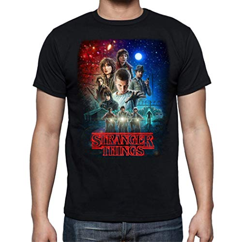 Camiseta de Hombre Stranger Things Once Series Retro 80 Eleven Will 001 S