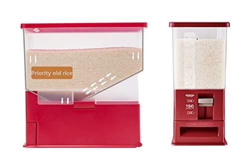 Rice Dispenser 26.5 lb Capacity Rice Container Cereal Bean Storage Bin Kitchen Organizer Flour Storage Sealed Box