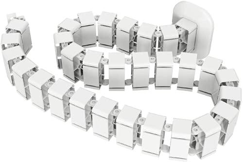 SpassWay KM-01 - Organizador de cables para escritorio, de acero ABS, resistente...