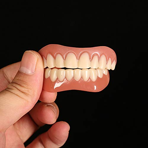 SanyaoDU 10 Piezas de Herramientas de Belleza Dientes Falsos instantánea Sonrisa Dientes Blanqueamiento de Ajuste cómodo dentadura Superior Pegar cosméticos Falso Diente Cubierta