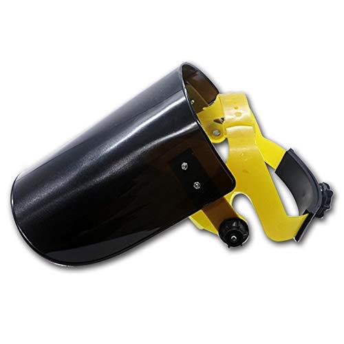 Gezichtsbescherming Transparante kap voor het lassen, beschermend masker gemonteerd op het hoofd in plexiglas - transparante kleur/zwart/bruin Zwart
