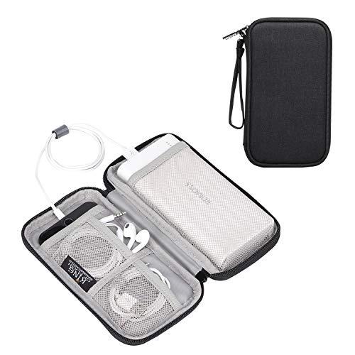 Zwarte multifunctionele kleine elektronica behuizing, premium kwaliteit gewatteerde bescherming voor accessoires, reisaccessoires - Koning van Flash Power Bank Case Zwart