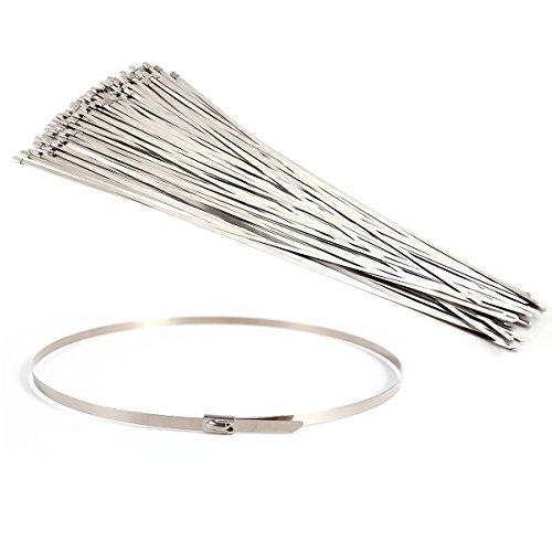CLE DE TOUS - 100 uds Bridas para cables Bridas de acero...