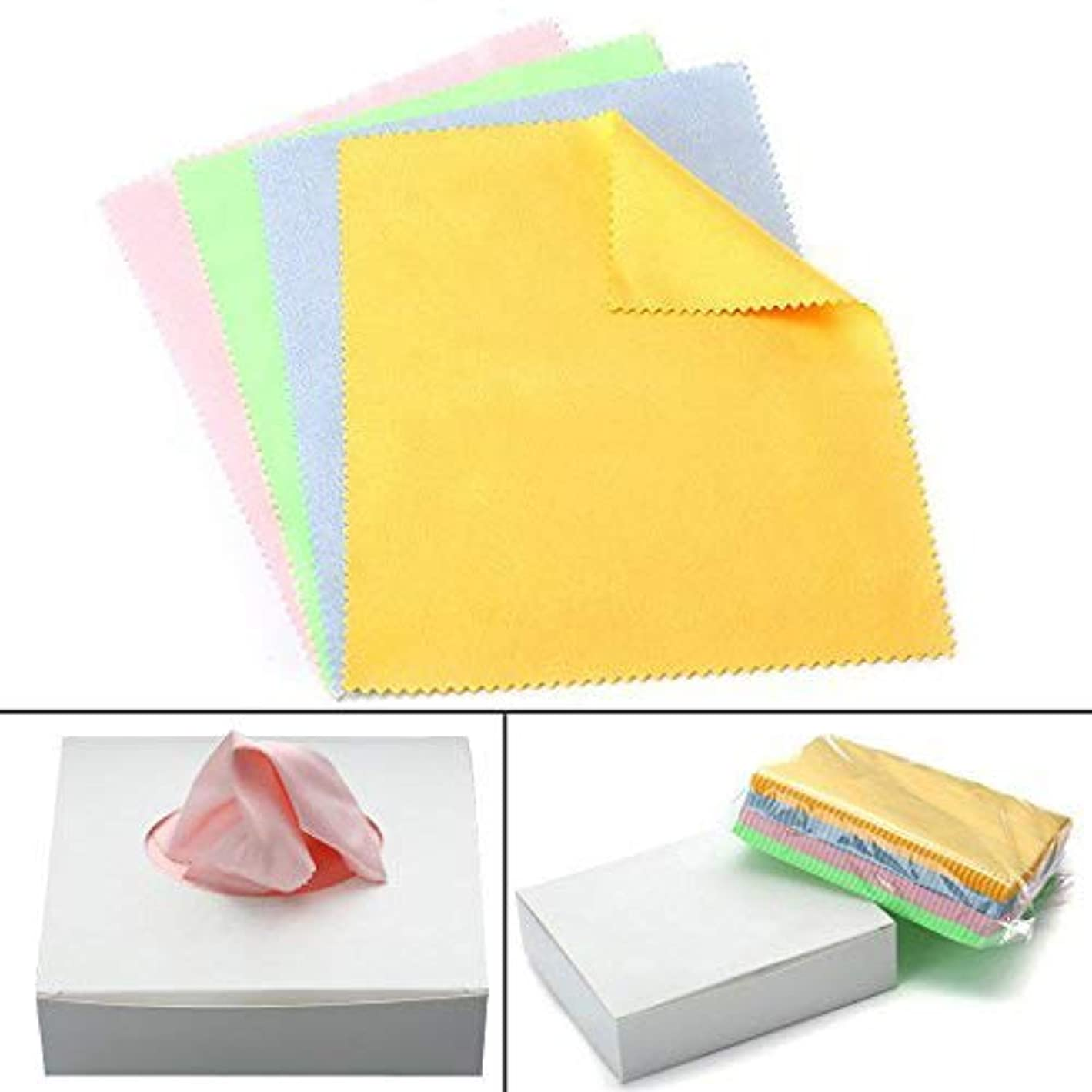 Magic Polishing Cloth, 100 Pack High Grade Jewelry Cleaning Cloth for Sterling Silver Gold Platinum and Lens Glasses Screens Watches Coins Instruments y30587145309917