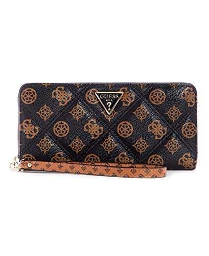 Guess Cessily SLG Large Zip Around Mocha Multi