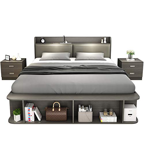 Lowest Price! AHW Modern Simple Storage Bed Tatami Bed 1.8 Multi-Function Double Bed 1.5 Nordic Stor...