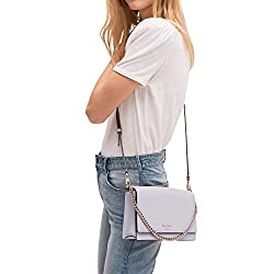 Kate Spade New York Leather Cameron Convertible Crossbody Handbag Clutch, Icy Lavender
