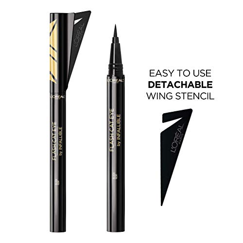 L'Oreal Paris Makeup Infallible Flash Cat Eye Waterproof Liquid Eyeliner, Black