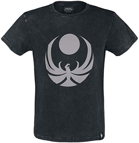The Elder Scrolls V - Skyrim - Nightingale Uomo T-Shirt Nero M 100% Cotone Regular
