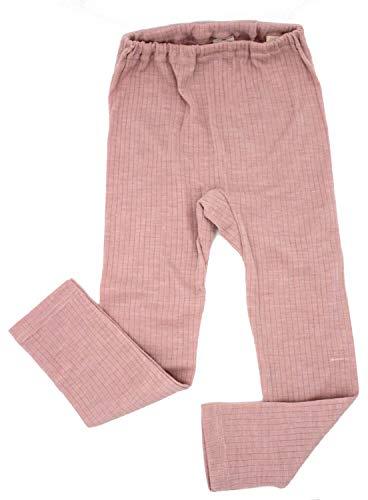Cosilana Kinder Leggings, Größe 152, Farbe Rosa meliert - Exclusiv Wollbody®GmbH - Qualität 91 45% Baumwolle KBA, 35% Schurwolle kbT, 20% Seide
