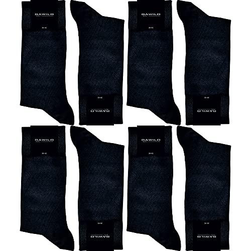 GAWILO Herren Socken aus 100prozent Baumwolle (8er-Pack) ohne drückende Naht - Komfortb& (47-50, schwarz)