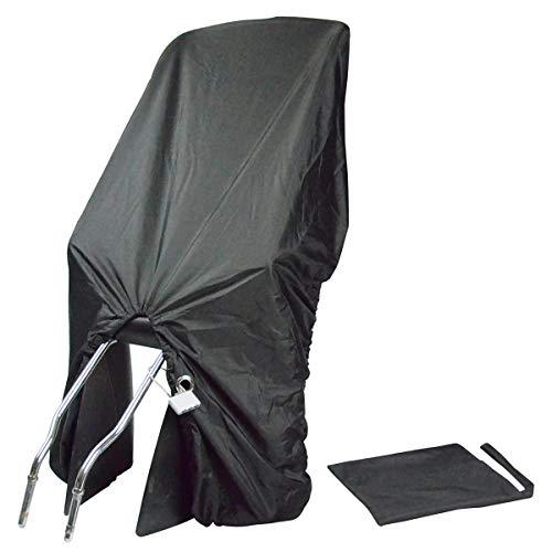 TROCKOLINO sicuro - Regenschutz für Fahrrad-Kindersitz mit Schloss, schwarz