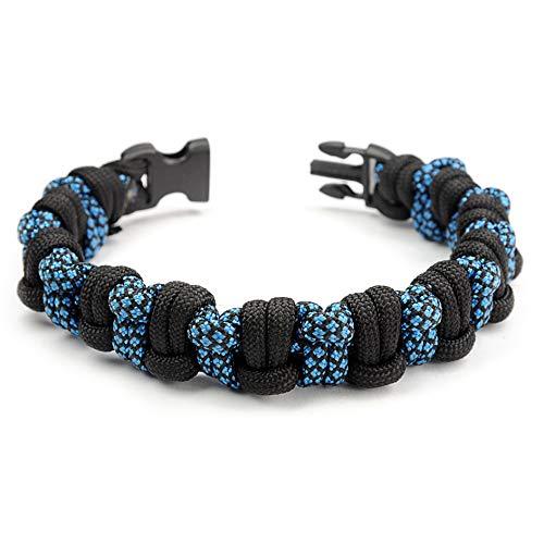 Paracord 550 Bracelet pour Homme et Femme Half Hitch Taille XL