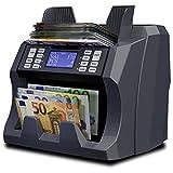 Detectalia V100 - Compteuse de Billets à Grande Vitesse pour Les Billets Non triés avec détection des Faux Billets sur 6 Points - Vérification des Billets à 100%