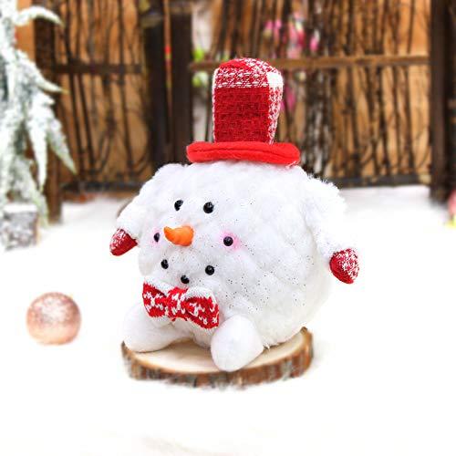 langchao Espuma navideña muñeco de Nieve muñeca muñeca Regalo Adornos creativos decoración de Ventanas decoración navideña