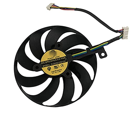 PLD09210S12H 7PIN RTX2080 RTX2080TI Tarjeta GPU FANSE para ASUS ROG Strix RTX 2080 2080 TI Tarjetas DE Juegos DE ENFRIAMIENTO (Blade Color : 6Pin PLD09210S12H)