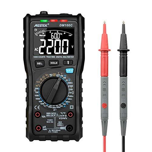 DM100C portatile multimetro digitale a vero RMS ESR Meter condensatore tester Mini Multi Meter NCV diretta tester di linea Anti-Burn Fuse allarme prodotti scientifici elettrici Multimetri Strumenti WK