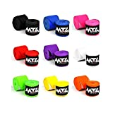 MTG Pro Handbandagen Teilelastisch 5m lang - Extralange Boxbandagen MMA Boxen Bandagen,Wickelbandagen Boxen Muay Thai (Gelb)