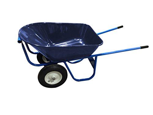 Roofer'S Barrow - 6 Cu Ft Steel Tray - Double Wheel Flat Free - Bon Tool 19-105