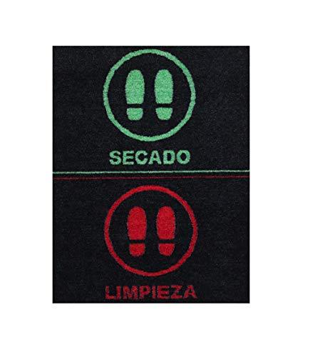 Felpudo desinfectante Calzado - Alfombra Limpia Zapatos para la Entrada, moqueta higienizante (58_x_75_cm)