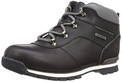 Timberland Splitrock 2, Jungen Hohe Sneakers, Schwarz (Black Smooth with Grey), 39 EU