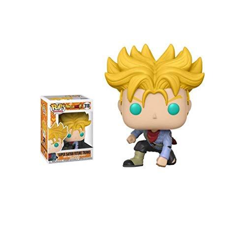 YYBB ¡Popular!Animación: Dragon Ball Z Super Saiyan Trunks del Futuro (Hot Topic) Vinilo Figura Figura Coleccionable Populares Caracteres Juguetes, Multicolor 3.9Inch Figurines