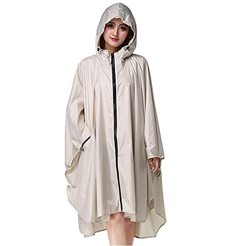 GDYJP Mujeres Ciclismo Poncho al Aire Libre Impermeable Impermeable Adulto Protector Sólido...