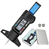 Audew Medidor De Profundidad de los Neumáticos Digital LCD Tyre Tread Depth Gauge Negro LCD Digital Desgaste Disco De Freno 0-25mm