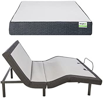 GhostBed Queen Custom Adjustable Power Base with Wireless Remote and GhostBed 11 Inch Cooling product image