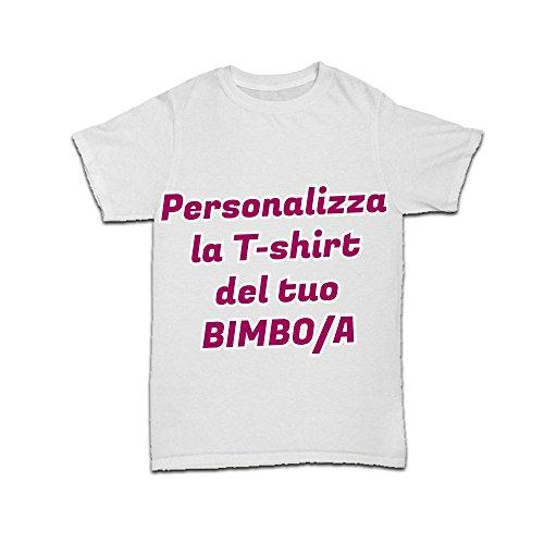 Altra Marca T Shirt Bimbo Maglietta Personalizzata Bianco