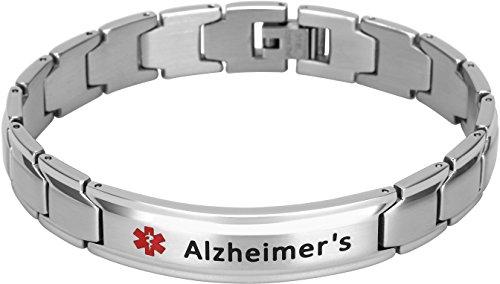 Elegant Surgical Grade Steel Medical Alert ID Bracelet for Men and Women (Men