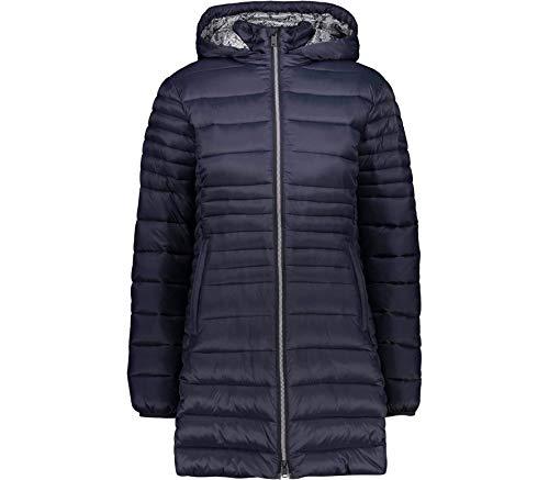 CMP Damen Parka Con Imbottitura 3m Thinsulate Jacke, Schwarz Blau, D44
