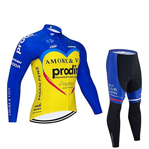 Maillots De Ciclismo Manga Larga para Hombre Pro Racing Club Amore &...
