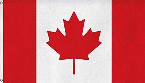 normani Fahne mit Messingösen 90 x 150, 150 x 250 oder 300 x 500 cm wählbar Farbe Kanada Größe 150 x 250