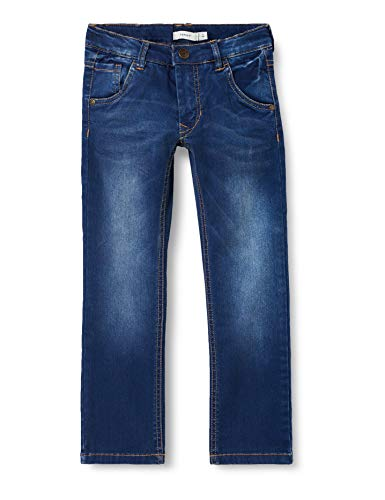 NAME IT Jungen NKMRYAN DNMTAZ 3004 Pant NOOS Jeans, Grau (Dark Blue Denim), 110