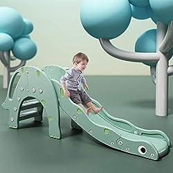 3. WELINK Toddler Folding Slide with Basketball Hoop