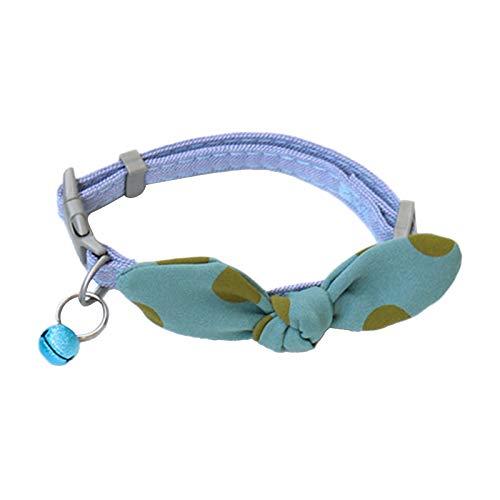 Camidy Haustier- Fliege Kragen für Katzen Kätzchen Verstellbares Haustier- Halsband mit Fliege Und Haustier- Bettelhalsband mit Verstellbarer Schnalle